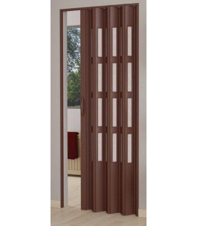 Kit folding door single shutter PVC with glass - reversible - Line Niagara