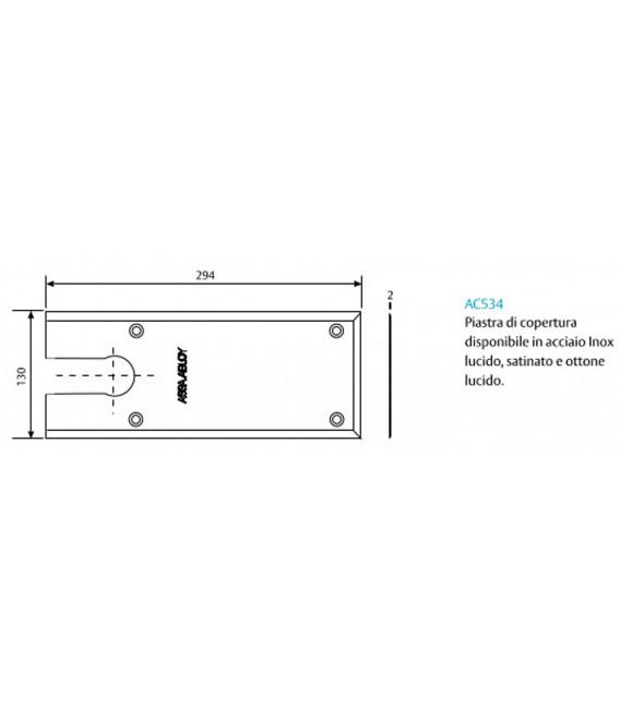 Chiudiporta a pavimento con forza regolabile per porte pesanti o uso gravoso - peso massimo 170 Kg - Assa Abloy