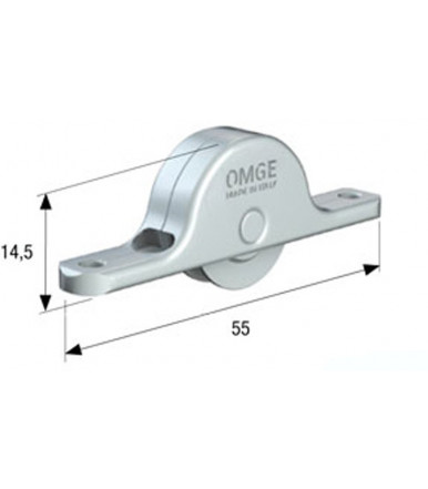 Omge roller with delrin wheel for sliding doors