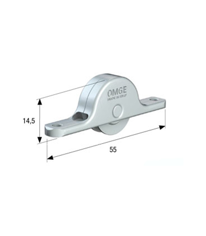 1 Pair of Sliding Door Roller Trolley up to 50 kg for Wooden Doors