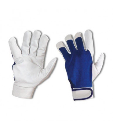 Leather gloves / cotton velcro closure Hobby Leather