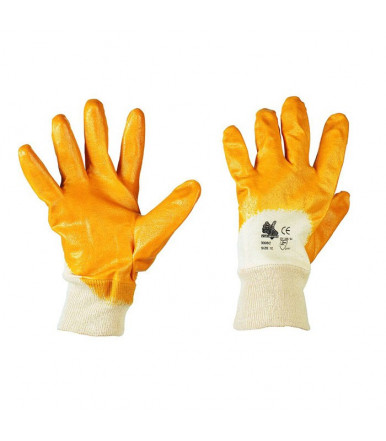 NBR yellow safety glove