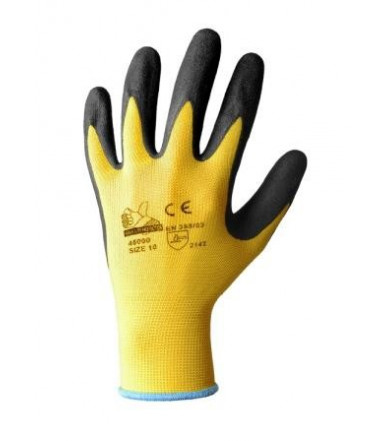 Nitrile glove coated polyester