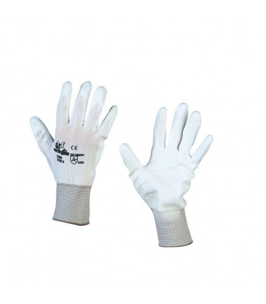 Glove coated polyester polyurethane