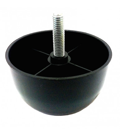 Adjustable foot for sofas with screw M10