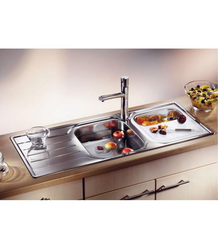 Lavello rettangolare da cucina acciaio inox blanco median for Lavelli cucina inox