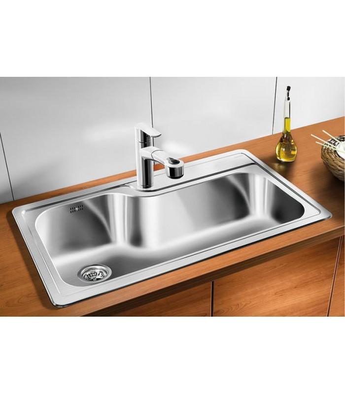 Lavello rettangolare da cucina acciaio inox BLANCO PLENTA