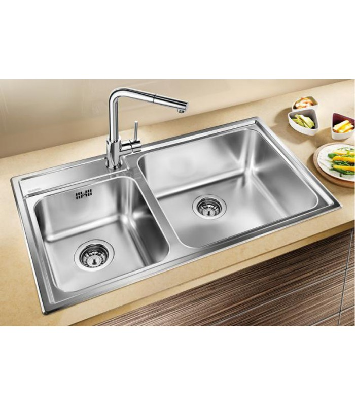 Lavello rettangolare da cucina acciaio inox blanco naya 9 mancini mancini shop - Cucina in acciaio inox ...