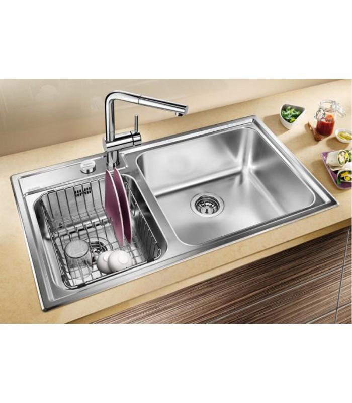 Lavello rettangolare da cucina acciaio inox BLANCO NAYA 9 - Mancini ...