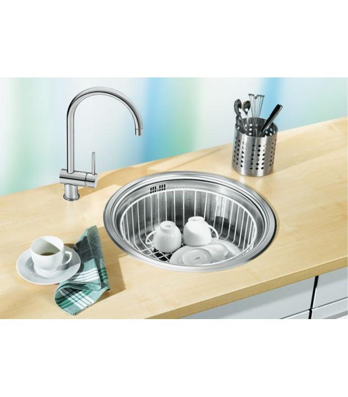 Lavello tondo da cucina acciaio inox blanco rondosol mancini mancini shop - Cucina in acciaio inox ...