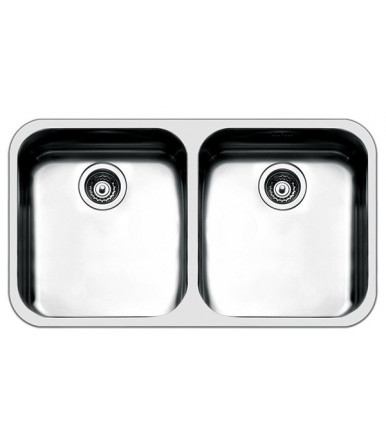 Apell Series Ferrara FE4545UBC rectangular Kitchen sink steel