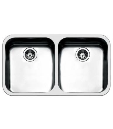 Lavello rettangolare da cucina in acciaio FE4545UBC Serie Ferrara Apell