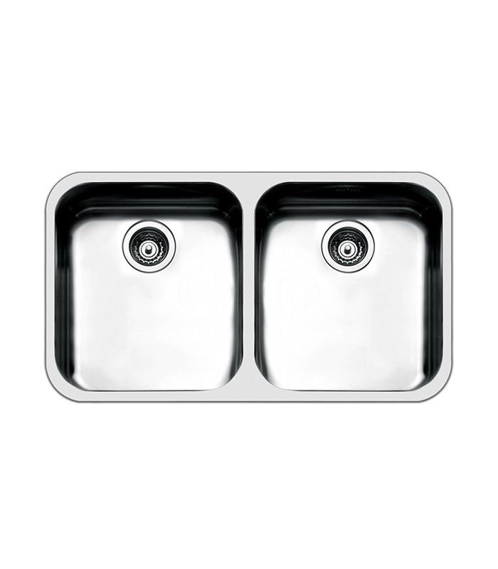 Lavello rettangolare angoli stondati da cucina in acciaio for Accessori cucina acciaio