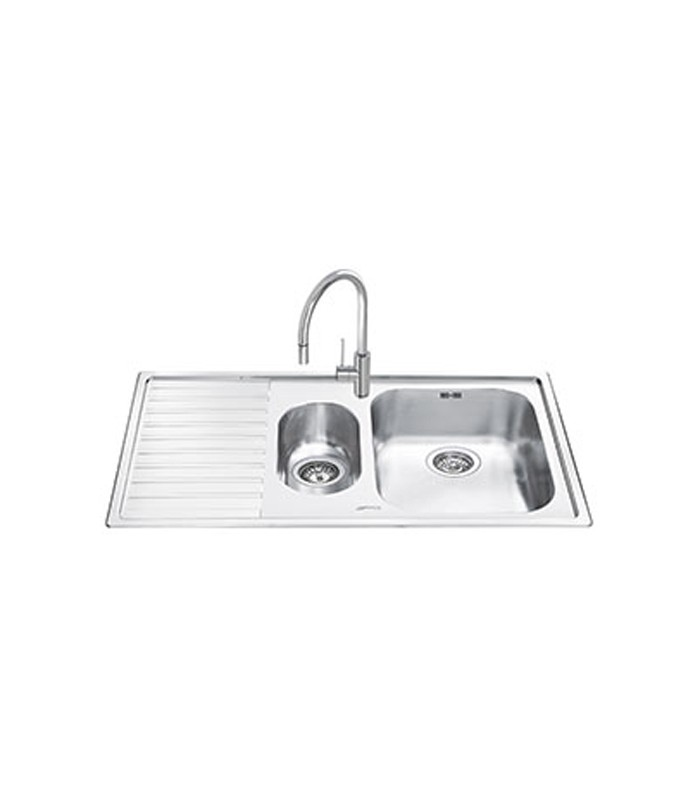 Lavello rettangolare da cucina in acciaio inox Serie Estetica ...