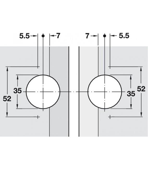 Cerniera ad angolo per ante a ribalta GS 45/135° Häfele