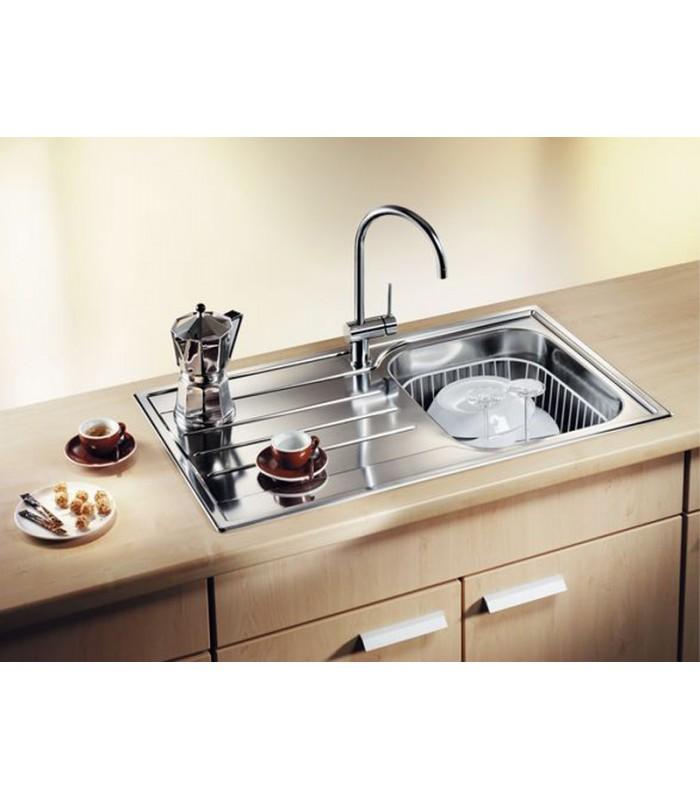 Lavello rettangolare per cucina acciaio inox BLANCO MEDIAN 45 S ...