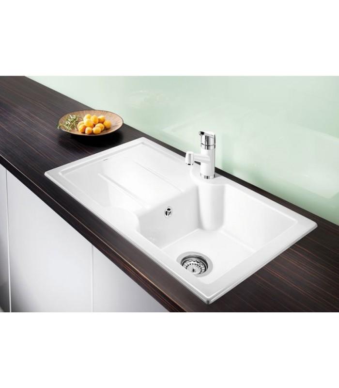 Lavello rettangolare per cucina ceramica blanco idessa 45 s mancini mancini shop - Base per lavello cucina ...