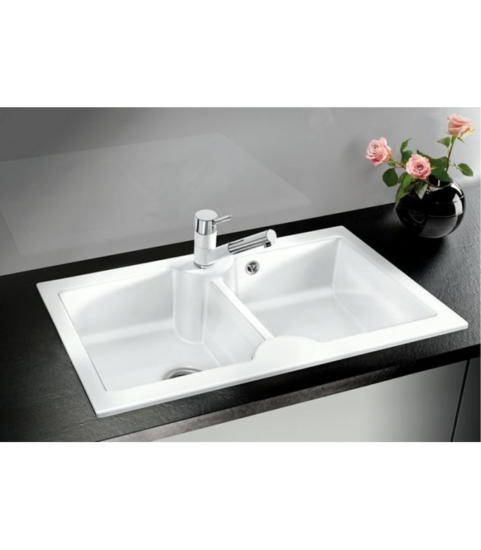 blanco ceramic kitchen sinks blanco idessa 9 rectangular kitchen sink ceramic mancini 4774