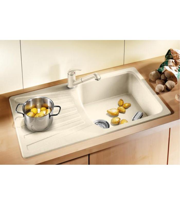 Lavello rettangolare per cucina in Silgranit BLANCO NOVA 5 S