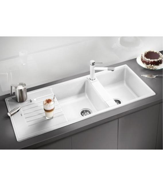 Lavello rettangolare per cucina in silgranit puradur blanco zia 8 s mancini mancini shop - Base per lavello cucina ...