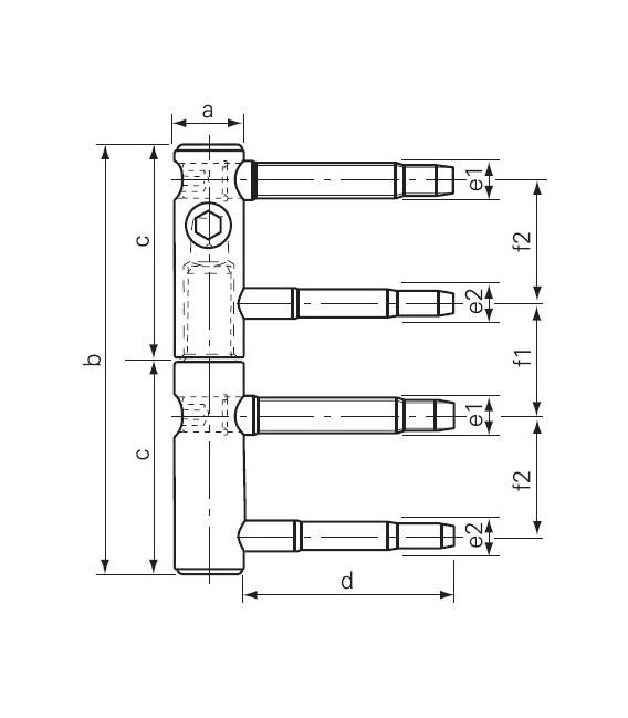 Cerniera regolabile 11R da 15 corta 92mm SFS intec