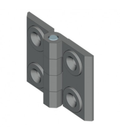 EMKA 1056-U27 180° screw-on hinge for door