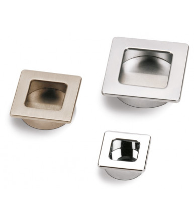 Estamp recessed square handle-plate with round hole Stylus 356-360 Arttech Collection