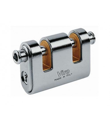 "Viro steinless steel ""Panzer"" armoured padlocks 2 indipendent dead-bolt mm 86 4126"