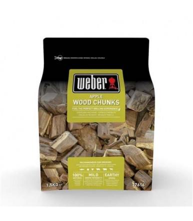 Weber large wood chunks for smoker - Apple