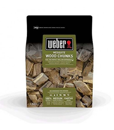 Weber large wood chunks for smoker - Mesquite