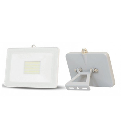 LED floodlight - 30W 120 ° 4500K Cover White Slim Series Pad