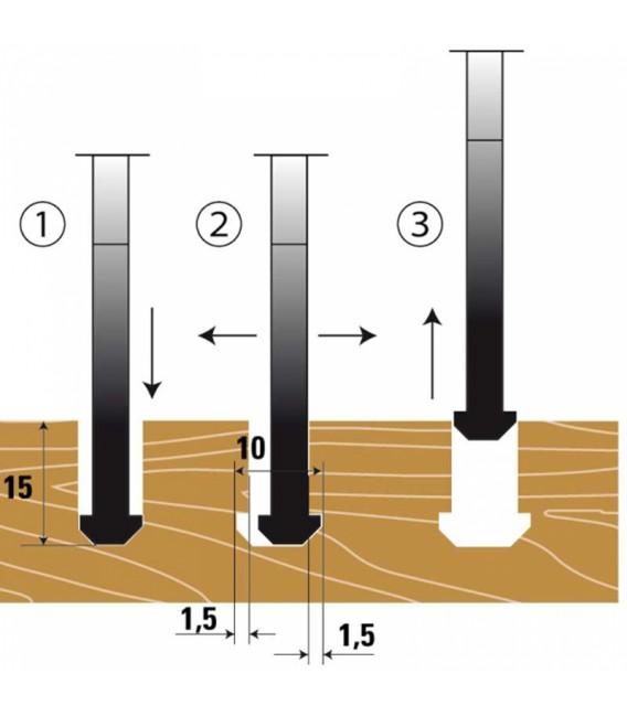 """Lama circolare in PKD per incastri """"Lamello - CLAMEX P"""" Klein XAH100.10330"""