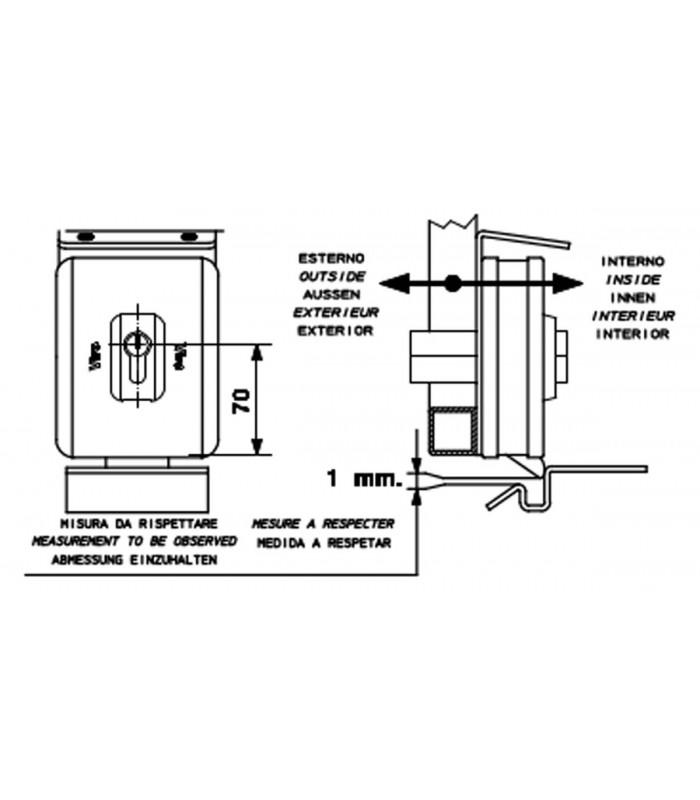 viro v90 electric locks - rotating dead-bolt