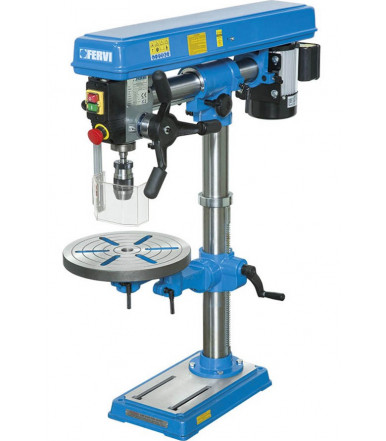 Fervi 0757 drill press with drive belt