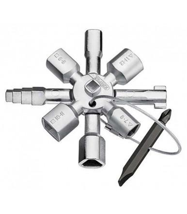 Chiave universale TwinKey per armadi elettrici e quadri ABC Tools