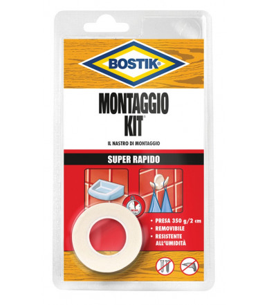 Nastro biadesivo Bostik Kit Super rapido