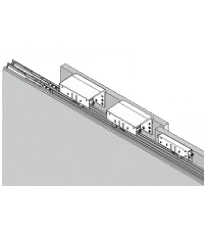 Carrelli Scorrevoli Per Ante Armadi.Kit 2 Carrelli Armadio Con Anta Scorrevole Esterna Ammortizzata Caimiexport System 9400 6