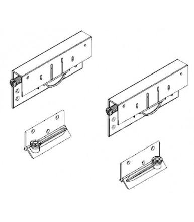 Koblenz System 9400 5 Kit 2 cart for wardrobe with internal sliding door cushioned