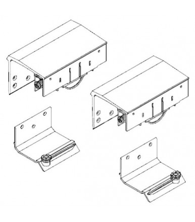Koblenz CaimiExport System 9400 6 Kit 2 cart for wardrobe with external sliding door cushioned