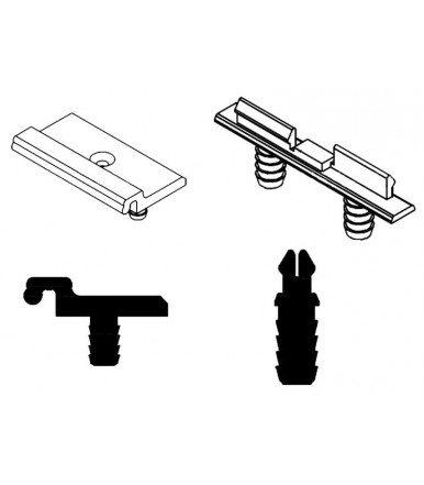 CaimiExport fixing kit upper rail for sliding door