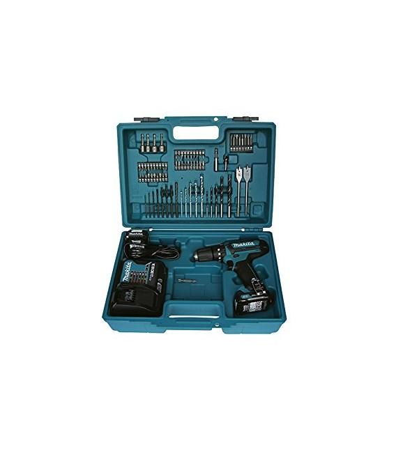 Trapano Avvitatore con percussione + 84 accessori HP330DX100 Makita