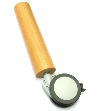 Pie Haya Natural 250 mm con rueda Maco de Ø 80 con freno