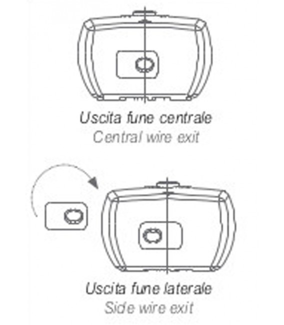 """Stafer Steel-wire winch Kit """"Riviera"""" for sunshade parasols capacity 35 kg"""