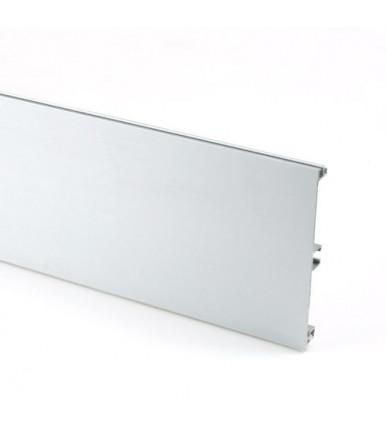 Zoccolo tutto in alluminio liscio Volpato anod.lucido 20/10-12-15.400.AL