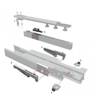 FR 777 ECD Fulterer Einzug-Dämpfungssystem Nachrüst-Set für Kulissenauszug FR 777