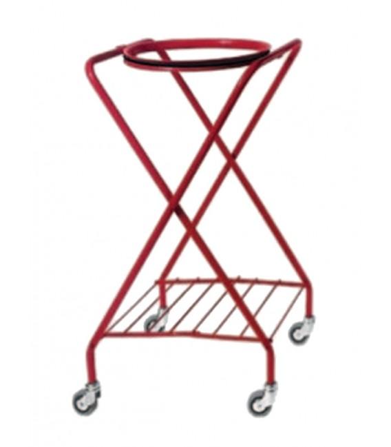 """Red varnished """"X"""" trolley bag holder"""