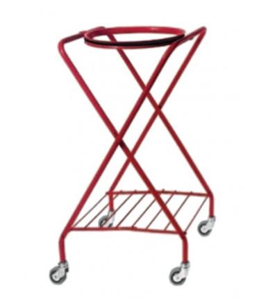 """Wäschewagen """"X"""" rot lackiert"""