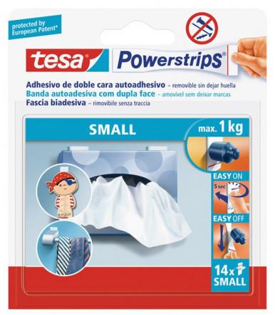 Strisce biadesive removibili bianche Powerstrips SMALL Tesa