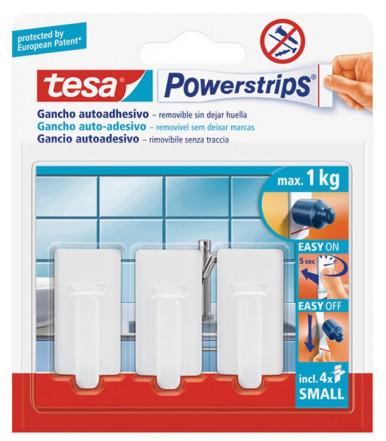 Tesa Powerstrips SMALL Haken Classic weiß