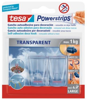 Tesa Powerstrips Large Transparent Deco Haken Mancini Mancini Shop